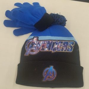 Avengers Winter Hat & Gloves One Size Fits